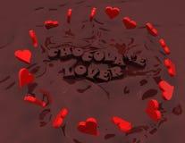 любовник шоколада стоковые изображения rf