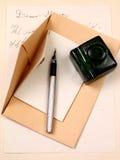 Любовное письмо и авторучка стоковое фото rf