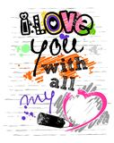 Любовное письмо Стоковые Изображения RF