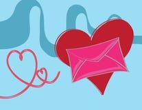 Любовное письмо Стоковая Фотография