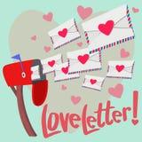 Любовное письмо! Стоковое Изображение RF