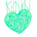 Любовь Валентайн дня приветствуя счастливое s карточки Сердце акварели на белой предпосылке элемент конструкции ваш Винтажные вал Стоковое фото RF
