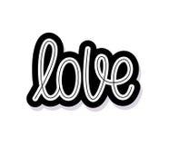 Любовь Отдельное слово Современный текст каллиграфии monoline Элемент на счастливый день валентинки также вектор иллюстрации прит иллюстрация штока