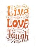 Любовь Плакат смеха рукописный Стоковые Фотографии RF