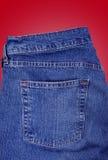 любое что-нибыдь карманн демикотона вставки джинсовой ткани Стоковое Фото