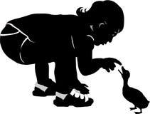 Любознательний малыш Стоковые Изображения RF