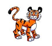 Любознательный тигр 1 бесплатная иллюстрация