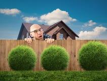 Любознательный сосед Стоковое фото RF