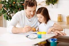 Любящая картина отца с его дочерью Стоковая Фотография