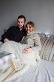 Любящие пары в уютном маяке Стоковое Изображение RF