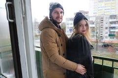 Любящие пары в уютном маяке Стоковое Фото
