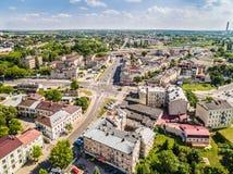Люблин от воздуха Улица Kunicki ландшафта окружающая Стоковое Изображение