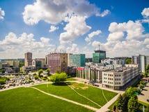 Люблин от воздуха Улицы Zana и Filaret Люблина зданий Стоковое фото RF