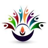 Людей логотип совместно на белой задней земле бесплатная иллюстрация
