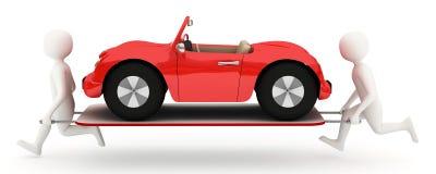 люди автомобиля белизна растяжителя Стоковое Изображение