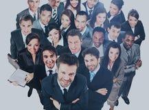 люди бизнес-группы Изолировано над белой предпосылкой Стоковые Фото