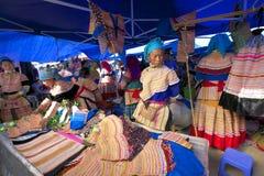 люди Вьетнам несовершеннолетия hmong цветка Стоковое Фото