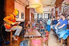Люди в кафе джаза Стоковое Фото
