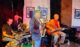 Люди в кафе джаза Стоковое фото RF