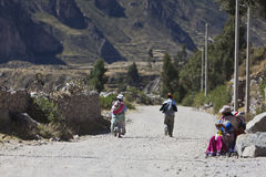 Люди в Перу Стоковые Изображения