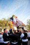 Люди в фольклорном costume стоковое фото rf