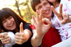 люди группы молодые Стоковые Изображения RF