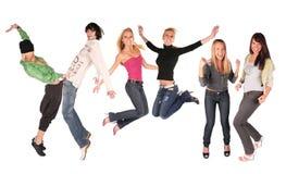 люди группы танцульки Стоковое фото RF