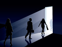 люди двери иллюстрация штока