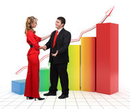 люди диаграммы дела 3d финансовохозяйственные Стоковые Изображения