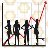 люди диаграммы дела Стоковые Фотографии RF