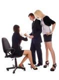 люди документа bussines показывают к женщинам Стоковое Изображение RF