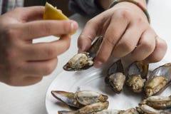 Люди есть mussle Стоковые Фото
