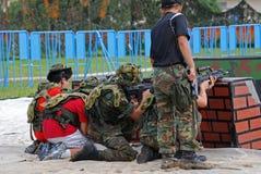 люди игр играя войну Стоковое фото RF
