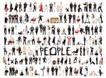люди изолированные коллажем Стоковое Изображение RF