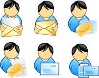 люди иконы удерживания электронной почты