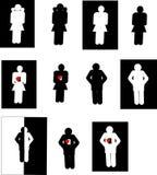 люди икон Стоковые Фото