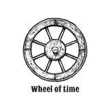 люди иллюстрации истории принципиальной схемы постоянн vector колесо войны иллюстрация вектора