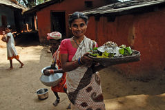 люди Индии пущи Стоковая Фотография