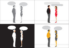 люди интервью дела Бесплатная Иллюстрация
