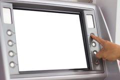 Люди используя ATM Стоковое Фото