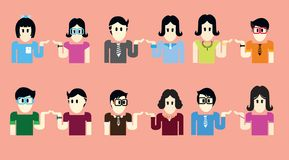 Люди и женщины одевают милое иллюстрация вектора