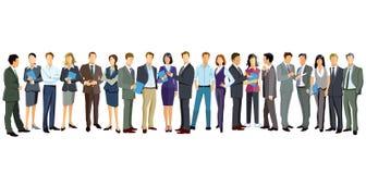 Люди и женщины стоя на белизне Стоковое фото RF