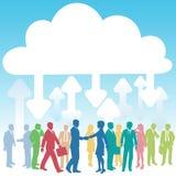 люди компании облака дела вычисляя