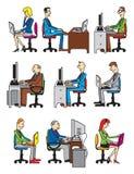 люди компьютера маленькие Стоковые Фото