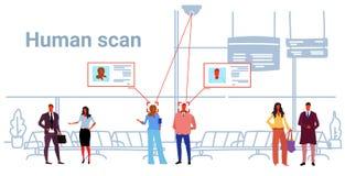 Люди концепции опознавания идентификации пассажиров лицевые стоя кам бесплатная иллюстрация