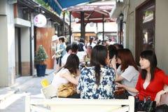 люди кофе штанги Стоковое Фото