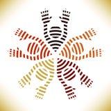 люди круга цветастые Иллюстрация вектора