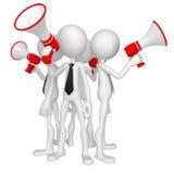 люди мегафона бизнес-группы иллюстрация штока