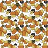 люди мозоли конфеты искусства безшовные Стоковое Изображение RF