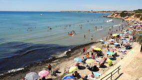 Люди моря пляжа видеоматериал